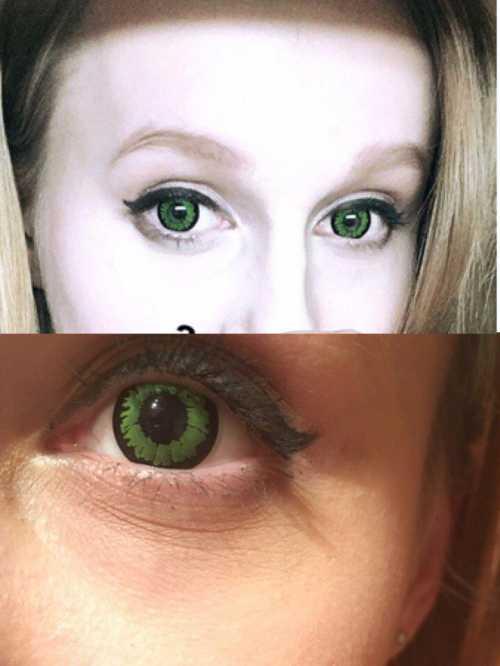 Цветные зеленые линзы
