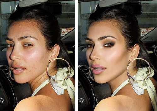Как Ким Кардашьян выглядит без фотошопа