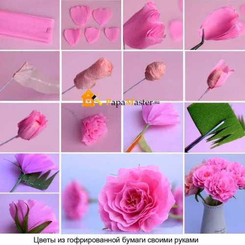Как сделать бумажные цветы своими руками