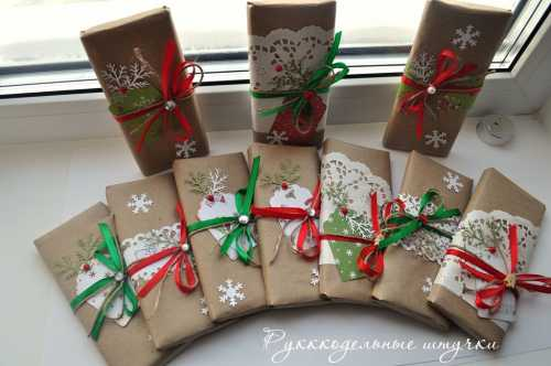 Делаем сами упаковку для новогодних подарков