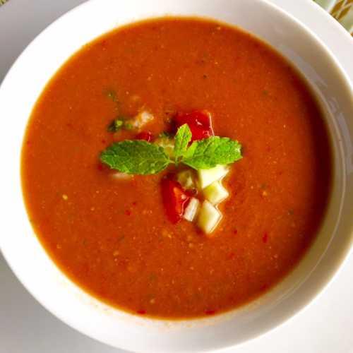 Испанский суп Гаспачо понижает высокое