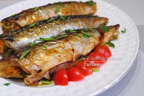 Фаршированная скумбрия: рецепт с овощами в духовке