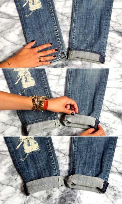 Учимся правильно подкатывать джинсы фото
