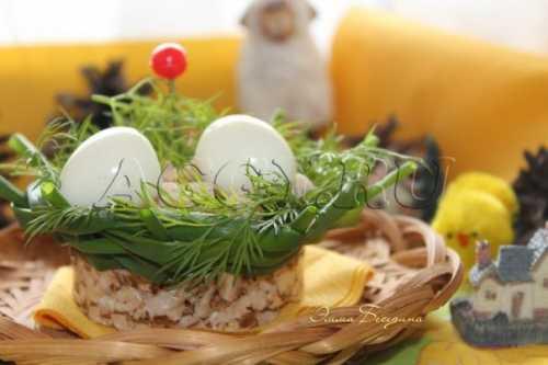 Закуска Перепелиные гнезда