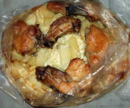 Рецепты курицы в рукаве с картошкой в духовке,