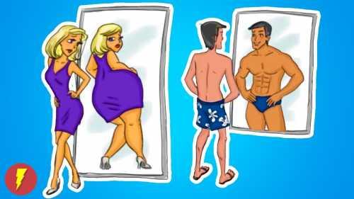 Мужчина и женщина: найди 10 отличий