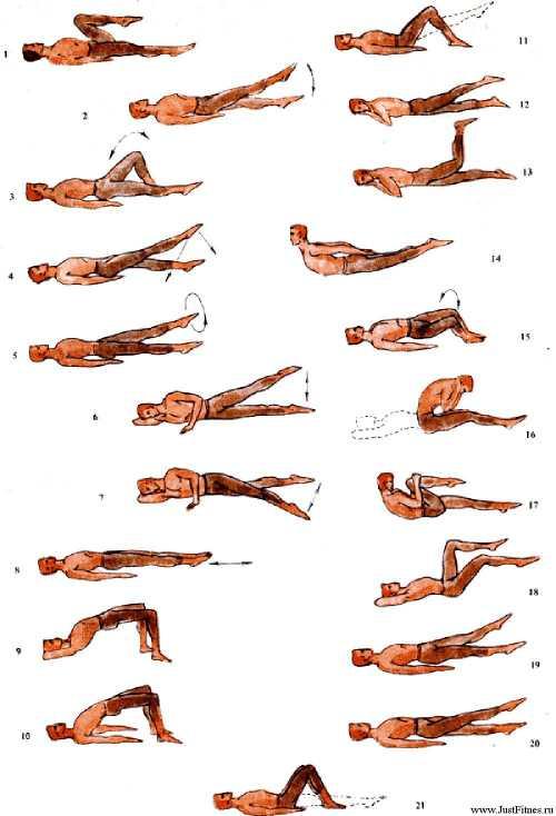 Варианты  гимнастики при поясничном остеохондрозе
