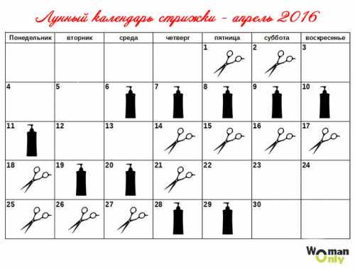 Лунный календарь стрижек на апрель 2016