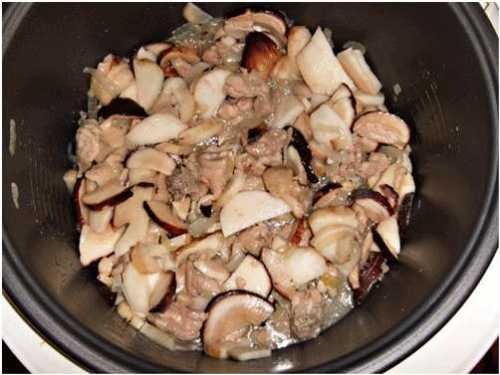 Рецепты курицы с грибами  в мультиварке, секреты