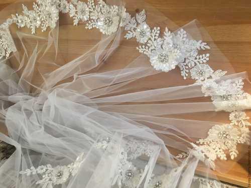 Свадебная фата, виды свадебной фаты