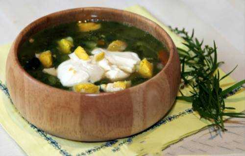 Суп из щавеля на курином бульоне – весенне