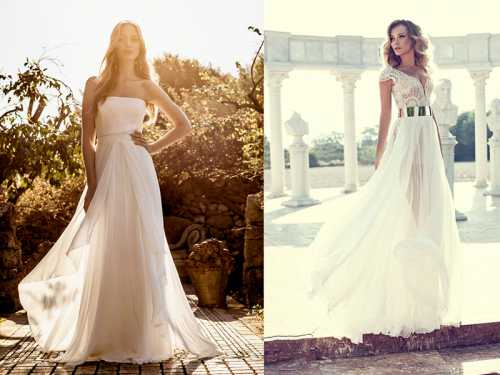 Красивые пляжные свадебные платья
