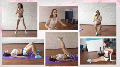 Тренировки в домашних условиях: два эффективных комплекса упражнений видео