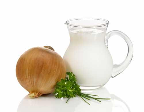 Лук в молоке от кашля
